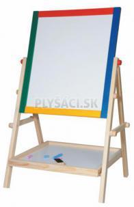 Woody - Drevená obojstranná tabuľa s poličkou, 65 cm