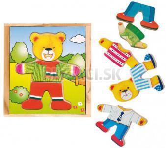 Woody - Puzzle šatník medvedíka