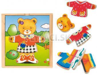 Woody - Puzzle šatník medvedice