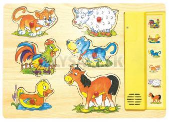 """Woody - Hudobné puzzle """"Domáce zvieratká"""""""