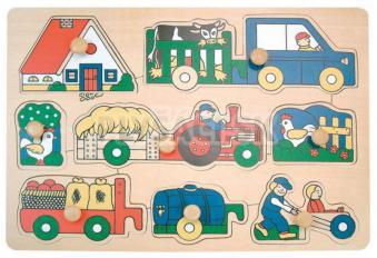 """Woody - Puzzle na doštičke """"Poľnohospodárske stroje"""""""