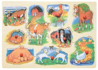"""Woody - Puzzle na doštičke """"Farma s mláďatami"""""""