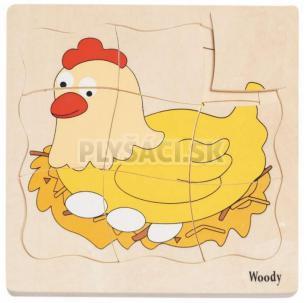 """Woody - Puzzle na doštičke """"Vývoj sliepočky"""""""