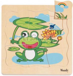 """Woody - Puzzle na doštičke """"Vývoj žabky"""""""
