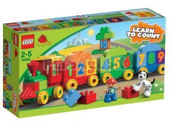LEGO Duplo Kocky - Vláčik plný čísel
