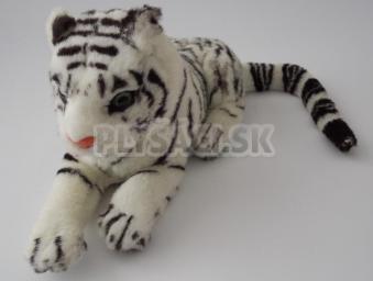 Plyšový tiger biely ležiaci