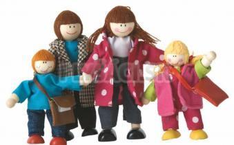Woody - Bábiky do domčeka - rodinka, 4ks
