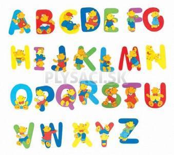 """Woody - Písmeno s medvedíkom """"F"""""""