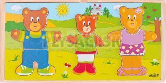 """Woody - Šatníková skriňa """"Obleč si svoju medvediu rodinku"""""""
