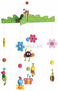 Woody - Závesný kolotoč nad postieľku - Motýle a chrobáčiky