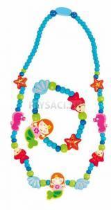 Woody - Súprava náhrdelník a náramok - Morská panna