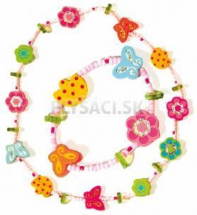 Woody - Súprava náhrdelník a náramok - Kvety