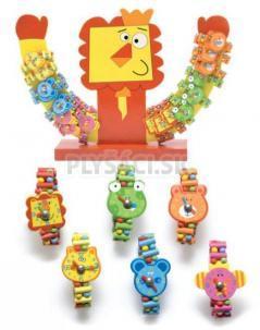 Woody - Náramky hodinky so zvieratkami a otočnou ručičkou