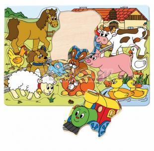 "Woody - Puzzle tvarové ""Mašinka"""