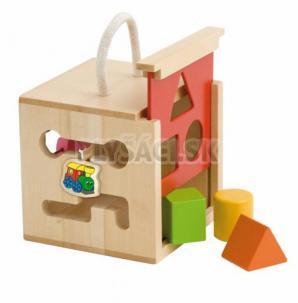 """Woody - Vkladacia krabička, počítadlo, labyrint s motívom """"Mašinka"""""""