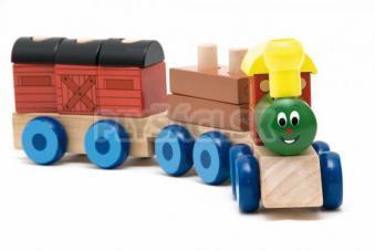 "Woody - Skladací vlak ""Mašinka"", 2 vagóny"