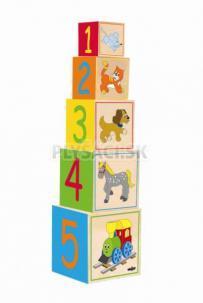 """Woody - Veža z 5tich kociek """"Mašinka""""-nový dizajn"""