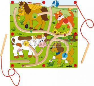 """Woody - Magnetická hra - Nakŕm zvieratka """"Mašinka"""""""