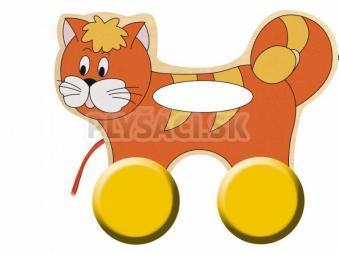 Woody - Mačička na kolieskach s držadlom