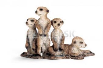 Schleich - 4 Mláďatá surikaty