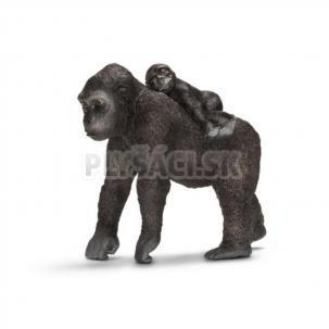Schleich - Gorila samica s mláďaťom
