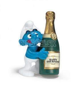 Schleich - Šmolko so šampanským