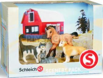 Schleich - Set - Andalúzske žriebä, mačka, králik, labrador
