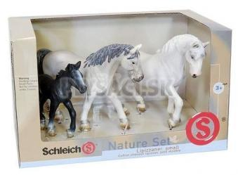 Schleich - Nature set - sada 3 koňov lipicanov