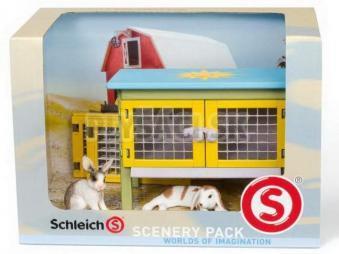 Schleich - Králikáreň s králikmi
