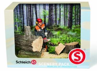 Schleich - Drevorubač s reťazovou pílou