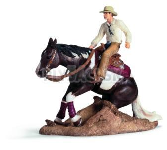 Schleich - Brzdiaci kôň s jazdcom