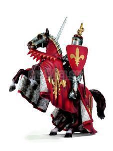 Schleich - Rytier na vzpínajúcom sa koni