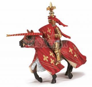 Schleich - Rytier na koni - červený