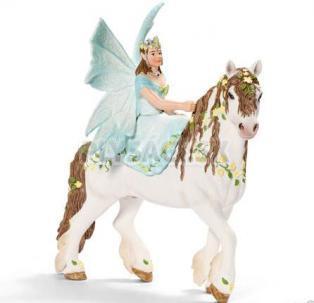 Schleich - Elfia víla na kvetovanom koni
