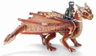 Schleich - Mladý drak s jazdcom