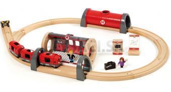 BRIO - Súprava metra s nástupišťom a kolajmi