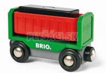 BRIO - Vyklápací vagón s čiernym nákladom