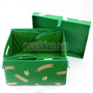 BRIO - Prenosny box s vekom na uloženie vláčikodráhy