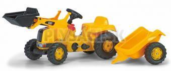 Rolly Toys - Nakladač Caterpillar s vlečkou - žltý