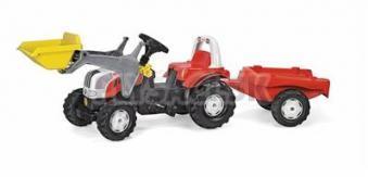 Rolly Toys - Šliapací traktor Rolly Kid Steyr nakladač s prívesom