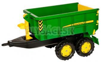 Rolly Toys - Vlečka za traktor John Deere vyklápacia zelená
