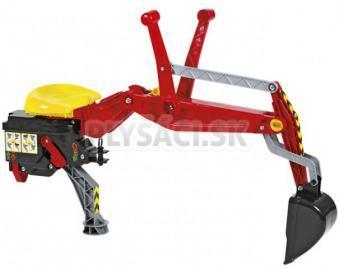 Rolly Toys - Rýpadlo k traktorom Kid, Junior, Farm, X-trac - červené