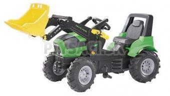Rolly Toys - Šliapací traktor DEUTZ Agrotron s nakladačom zelený