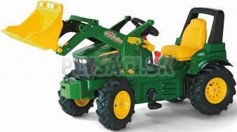 Rolly Toys - Šliapací traktor John Deere 7930 s nakladačom, brzdou a nafukovacími kolesami
