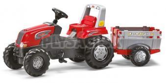 Rolly Toys - Rolly Junior RT s vlečkou traktora Šliapací červeno-šedý