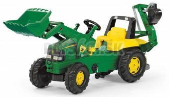 Rolly Toys - Rolly Junior Šliapací traktor John Deere s bagrom a nakladačom