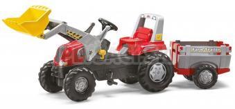Rolly Toys - Šliapací traktor Rolly Junior s nakladačom a prívesom