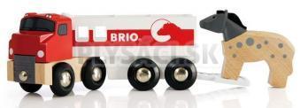 BRIO - Kamión na prepravu koní s koníkom