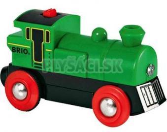 BRIO - Elektrická lokomotíva zelená