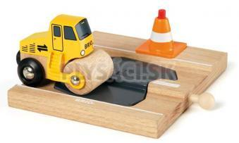 BRIO - Auto na asfaltovanie ciest s cestou a kužeľom